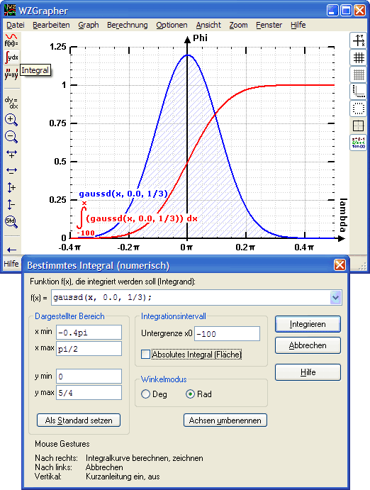 WZGrapher Function Graph Plotter: Integral Curve